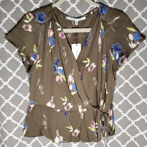NEW Collective Concepts Isabella Wrap Top M